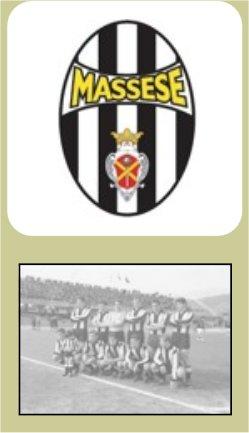 Logo e foto d'epoca della Massese Calcio (Fonte: Censimento delle fonti dello sport Toscano, provincia di Massa)