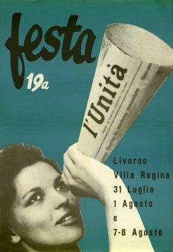 Manifesto per la Festa dell'Unità di Livorno (1965) (Archivio Istoreco Livorno)
