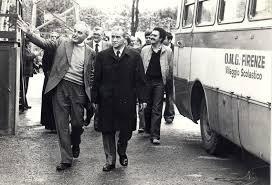 Don Alfredo Nesi con Pietro Ingrao