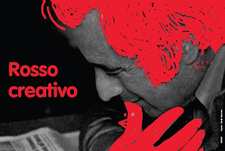 Oriano Niccolai nel manifesto della mostra a lui dedicata (grafica Studio Nasonero)