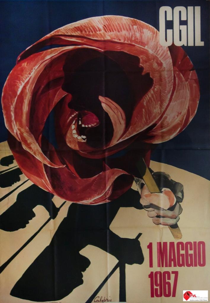 Manifesto CGIL 1 Maggio 1967