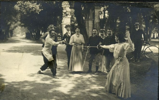 La scherma (Archivio Storico Mens Sana 1871)