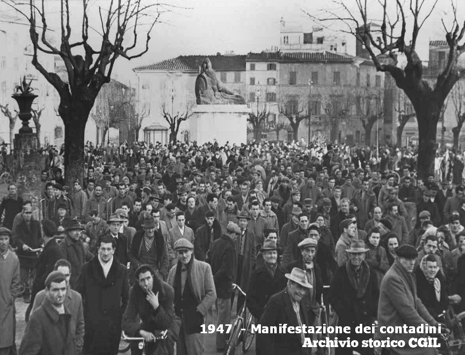 contadini piazza san francesco