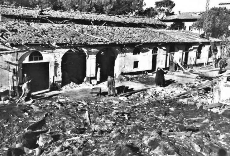 6gennaio1944 immagine di un bombardamento