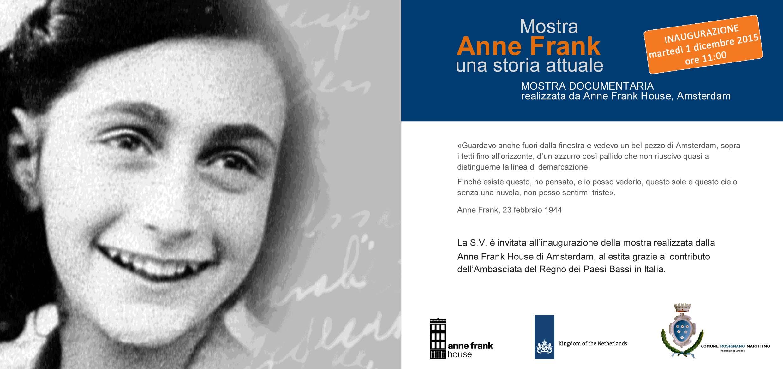 Invito Anna Frank una storia attuale