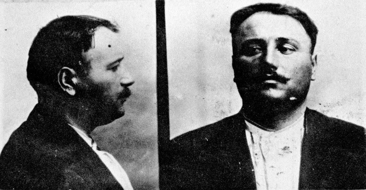 Foto segnaletica di Oreste Ristori, anni Venti del '900
