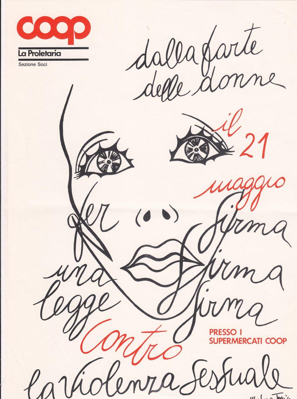 Dalla parte delle donne raccolta  firme contro la  violenza sessuale 1988 (Archivio Storico Unicoop Tirreno)
