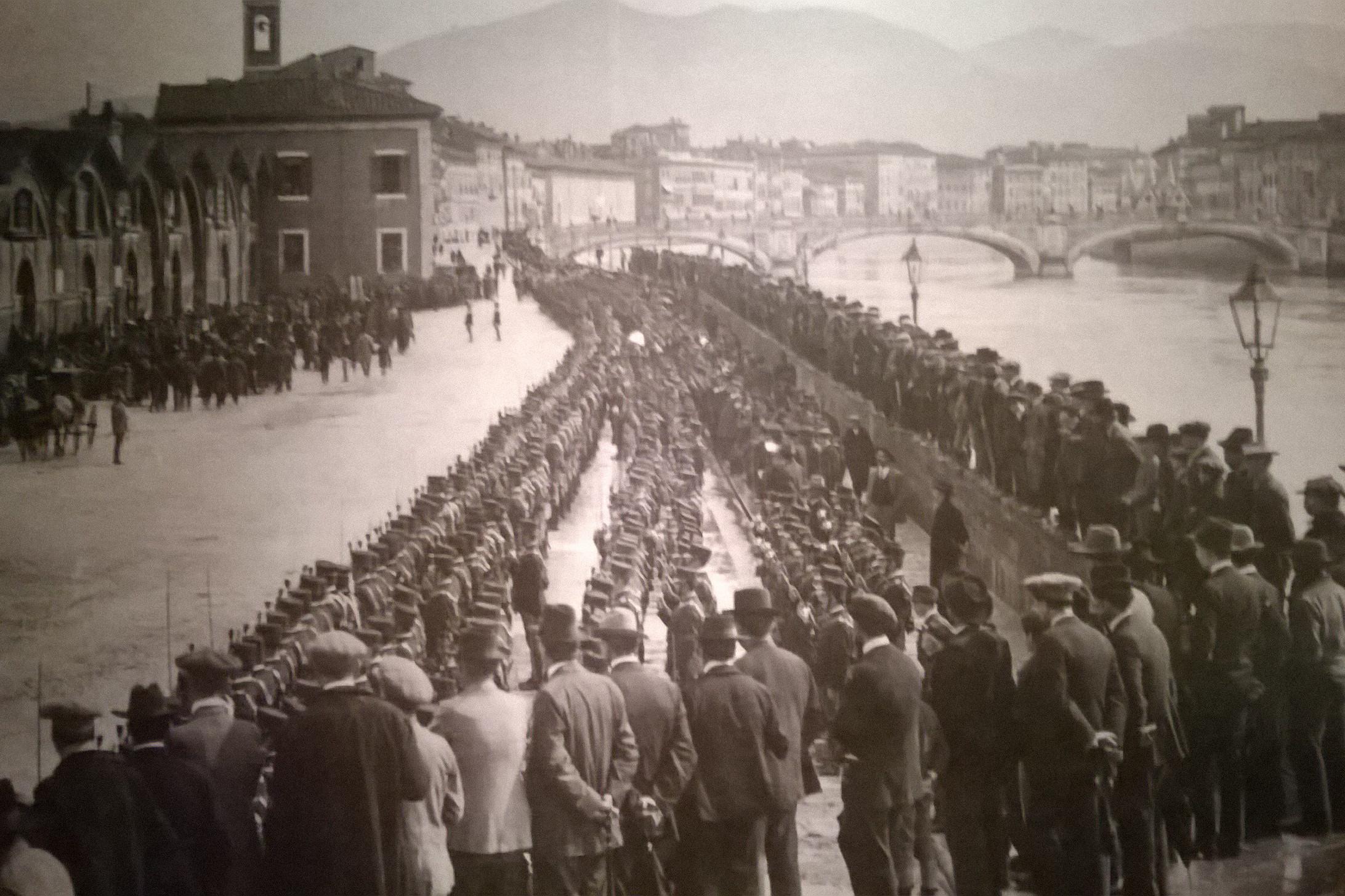 Pisa partenza delle truppe