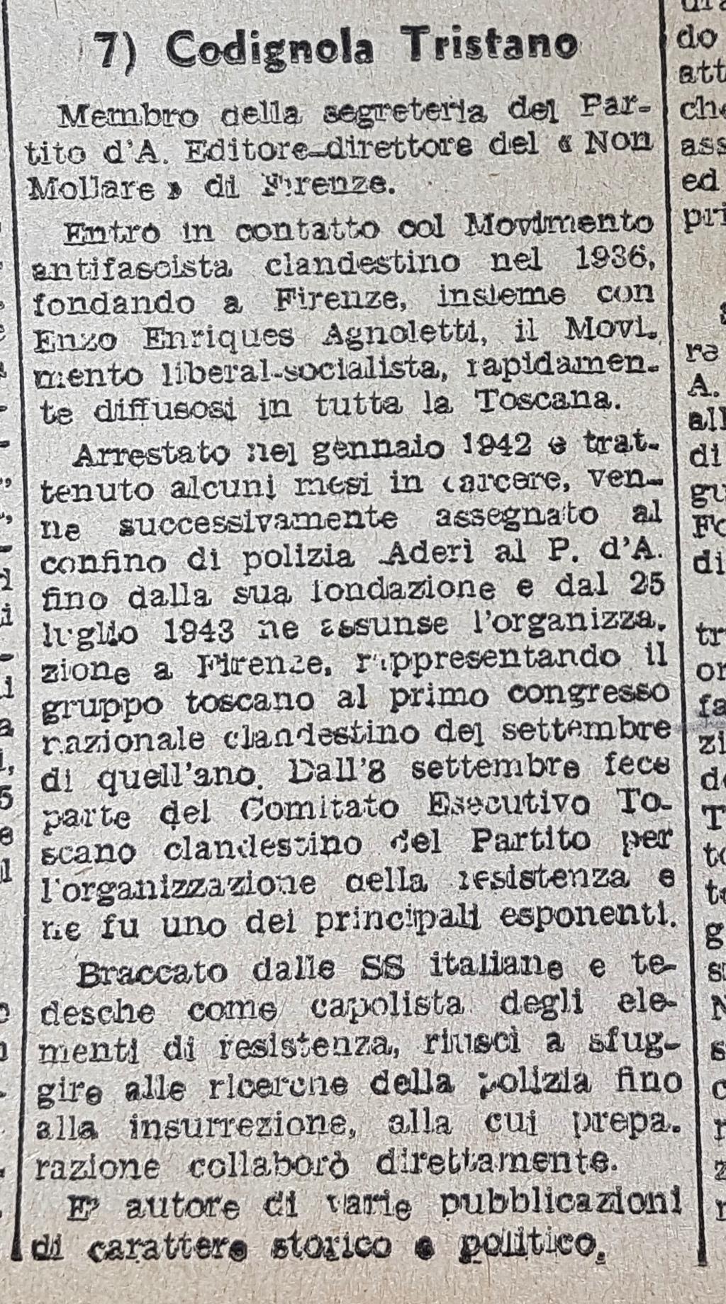 """Breve profilo biografico del candidato Codignola (""""L'Italia Libera"""", Roma, 4 maggio 1946)"""