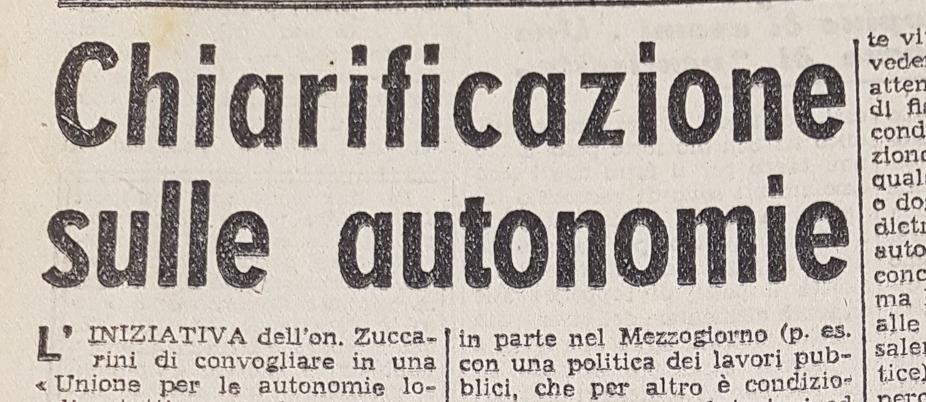 """T. Codignola, """"Chiarificazione sulle autonomie"""" (""""Italia Libera"""" 2 agosto 1946)"""