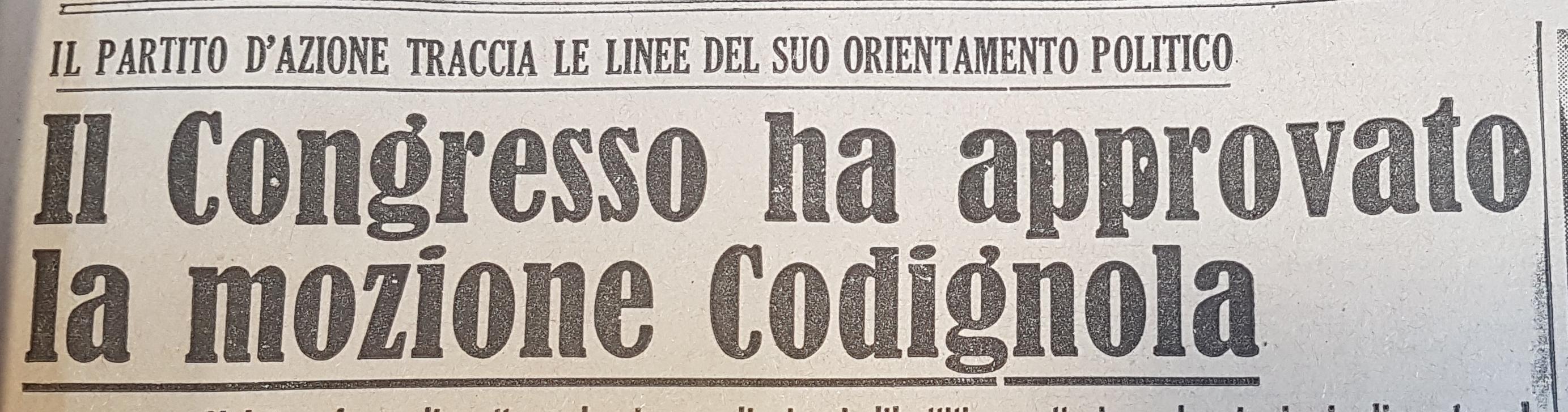 """""""Non Mollare!"""", Firenze, 6 febbraio 1946"""