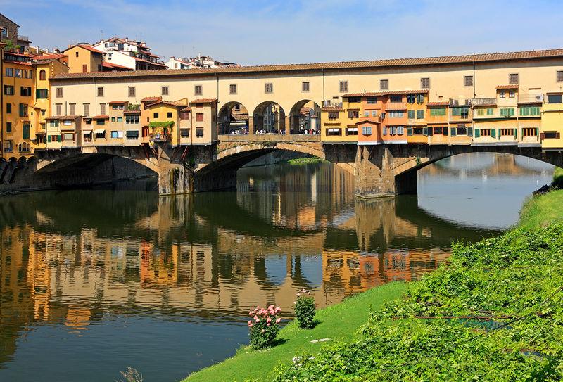 Ponte Vecchio in Florenz, Toskana, Italien