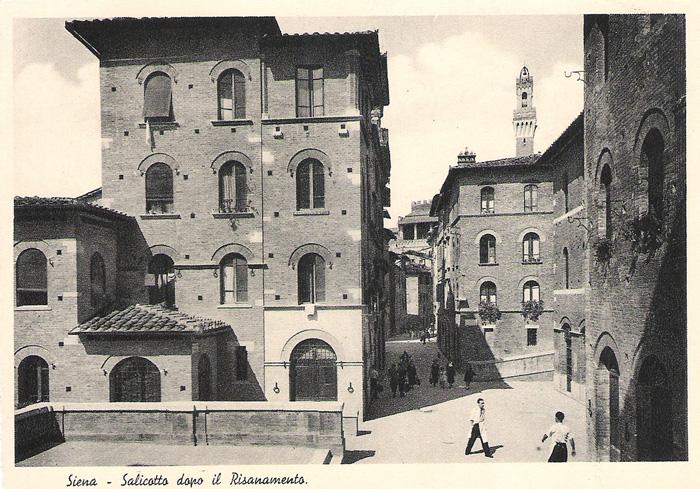 """Il quartiere Salicotto dopo il """"risanamento"""" compiuto nel 1928-1933. Voluto anche per ridurre il sovrappopolamento e diradare i focolai di tubercolosi."""