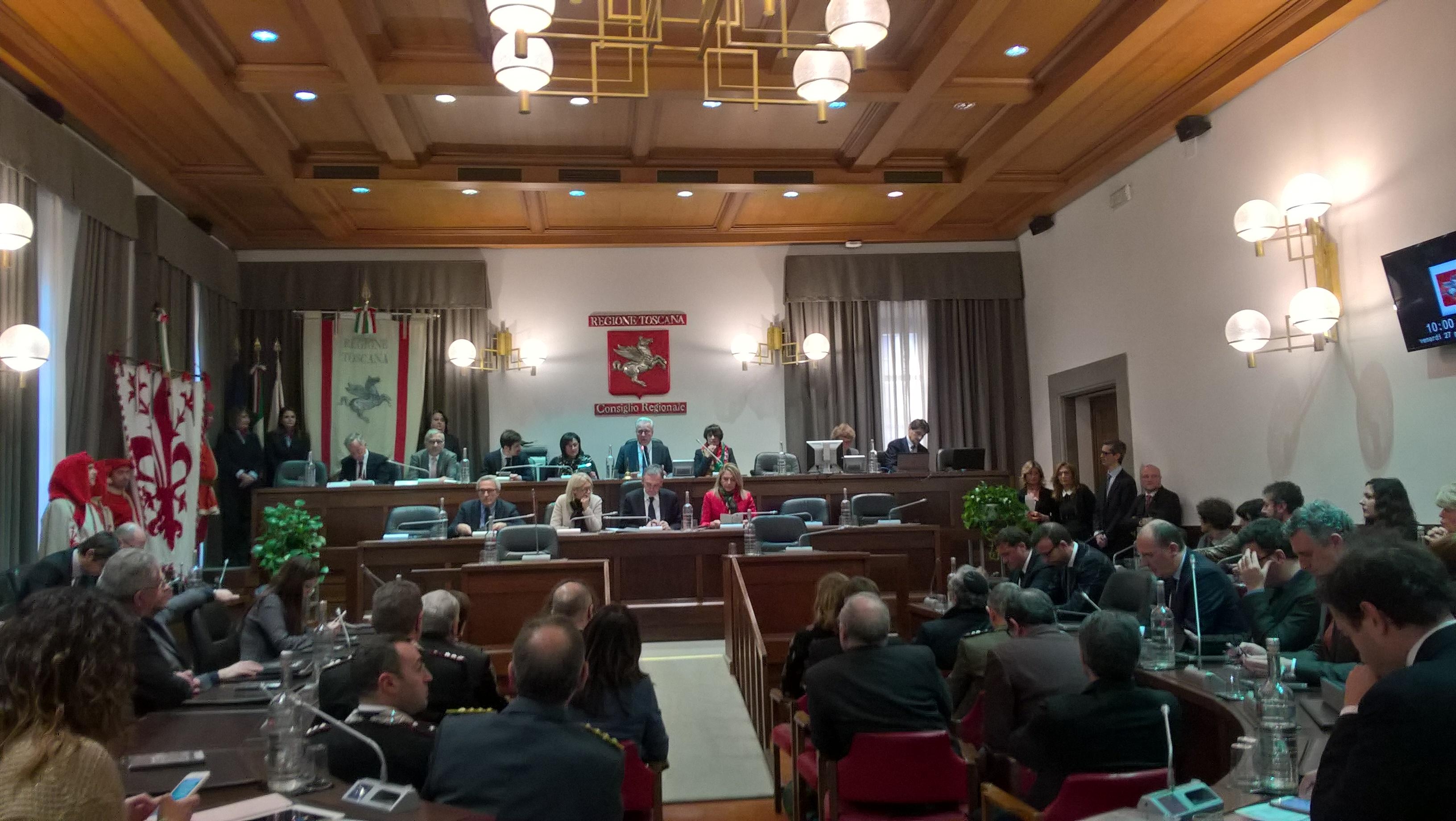 Consiglio regionale 27 gennaio 2017