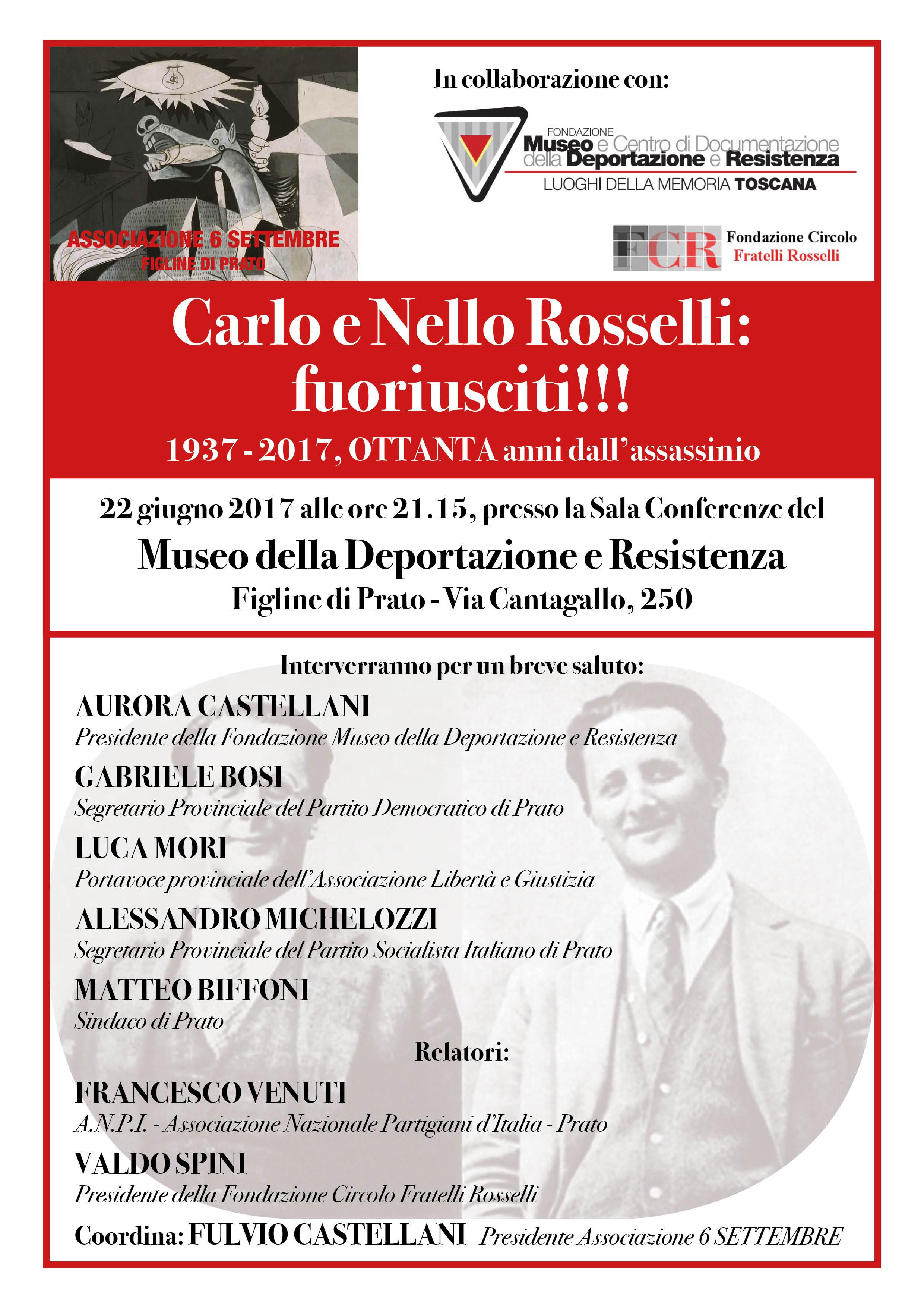 iniziativa 22 giugno fratelli Rosselli