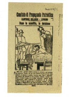Manifesto del Comitato di Propaganda Patriottica del Cantiere Orlando (Biblioteca di Storia Moderna e Contemporanea di Roma)