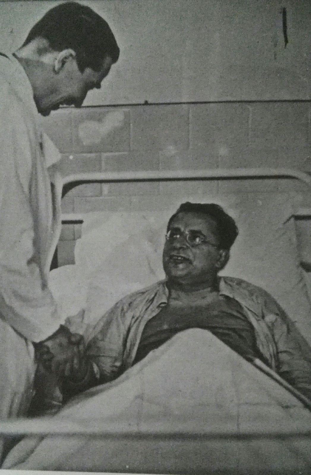 Palmiro Togliatti in ospedale dopo l'attentato
