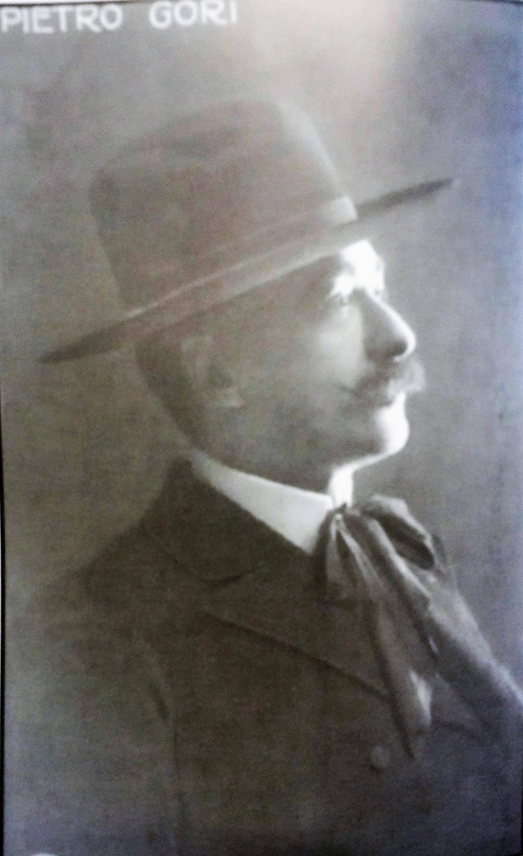 Ritratto di profilo di Pietro Gori, s.d.