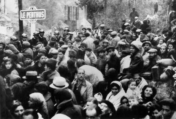 David Seymour, La Retirada. Le Perthus, à la frontière franco-espagnole, février 1939 © Musée national de l'histoire et des cultures de l'immigration