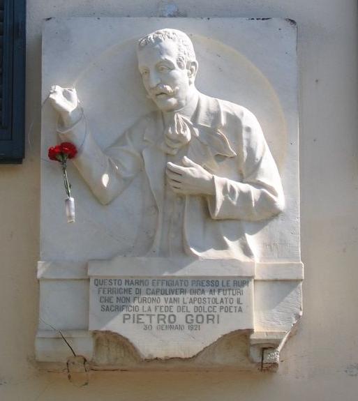 Busto di Pietro Gori nell'atto di parlare, Capoliveri, Piazza Matteotti, 1921