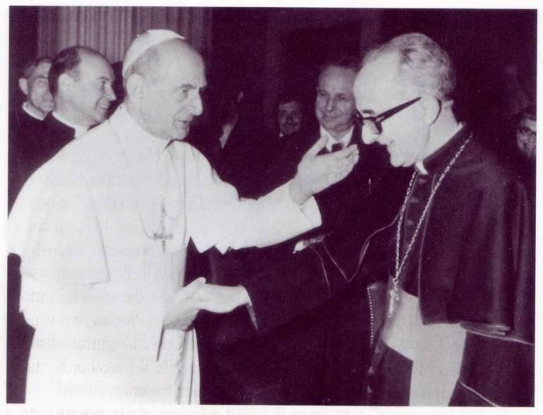 Monsignor Enrico Bartoletti con Paolo VI