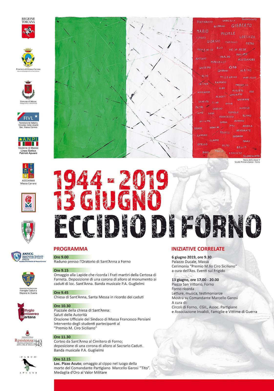 75° anniversario- Eccidio di Forno - 13062019 - manifesto ok