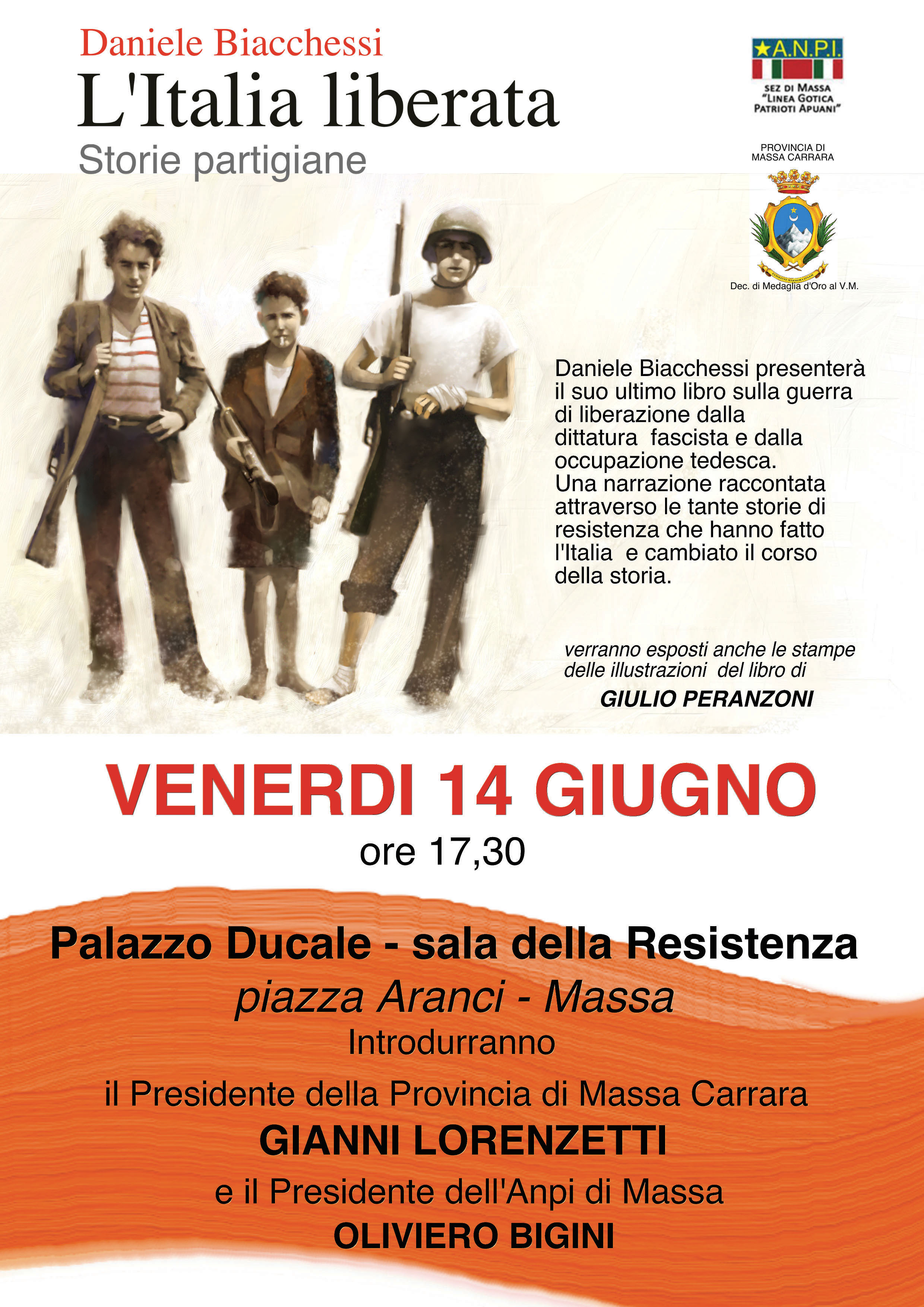 locandina L'italia liberata Massa