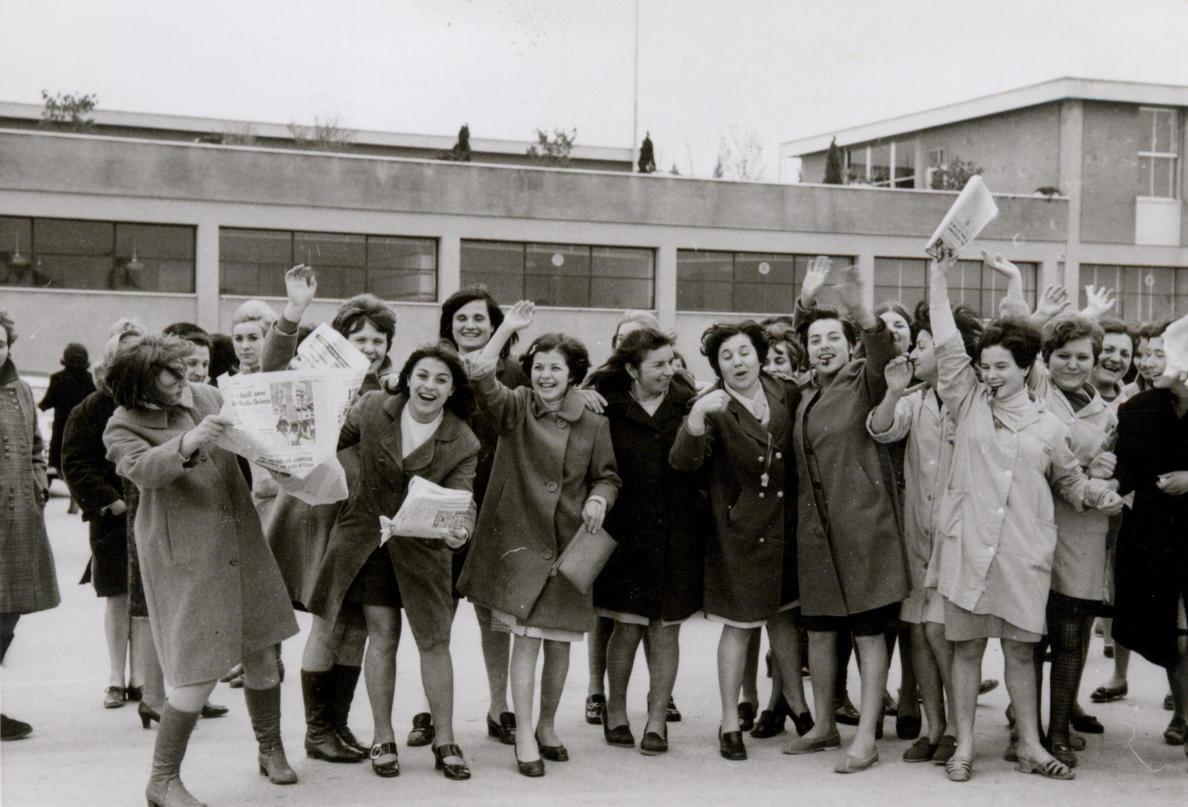 Manifestazione primi anni Settanta, Lebole, Arezzo (fondo: Repek)