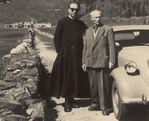 Emilio Angeli (a destra) (Archivio Centro Studi Roberto Angeli)