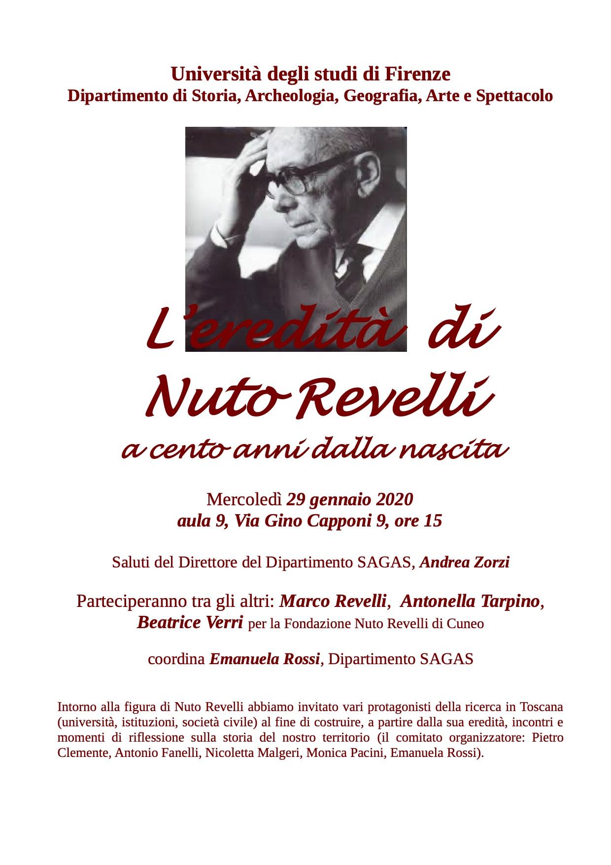 Revelli in Toscana invito per Nuto Revelli