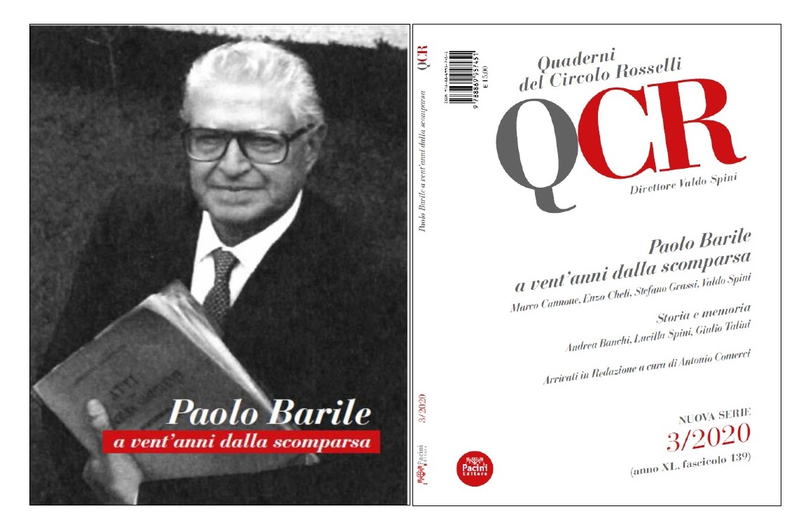 Quaderno Circolo Rosselli n. 3.2020