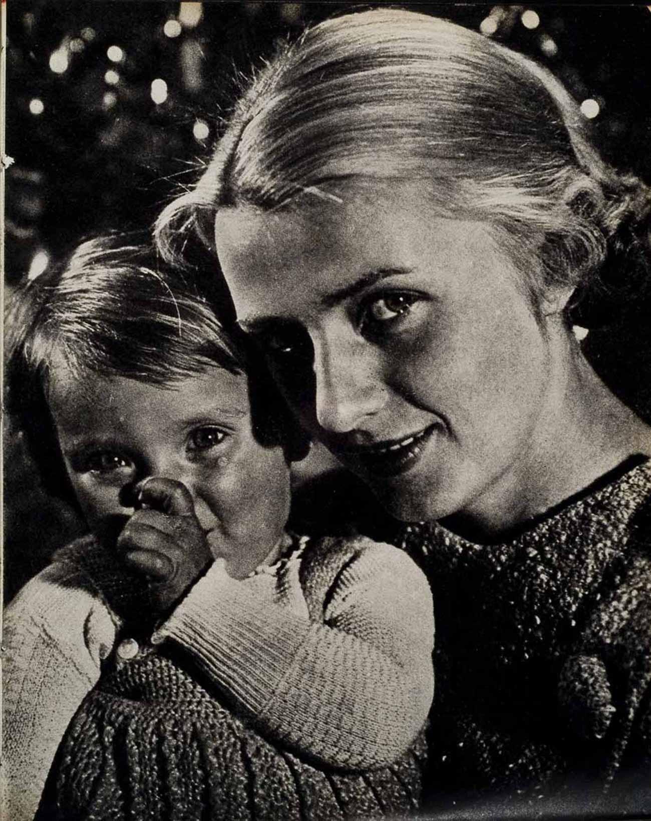 Donna bianca con bambino