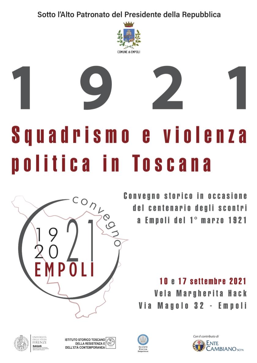 1921. Squadrismo e violenza politica in Toscana - programma ed invito email